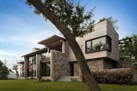 façade sud et terrasse - SC Modern I par SBCH Architects - Bray's Island, Sheldon, Usa