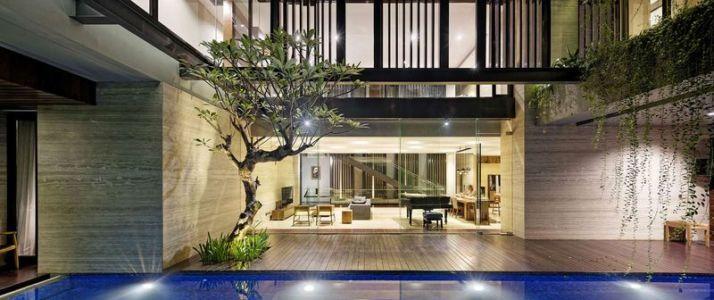 façade tereasse - Ben House-GP par Wahana Architects - Jakarta, Indonésie