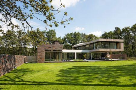façade terrasse - 102 Heesch par Hilberink Bosch Architecten - Bosvilla, Pays-Bas