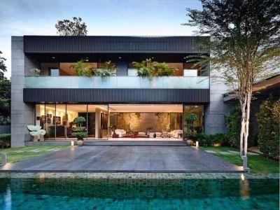 façade terrasse - 66mrn house par Ong&Ong - Singapour
