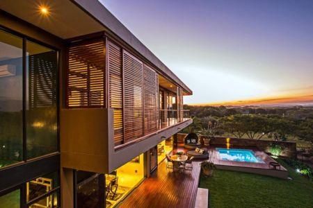 façade terrasse - Aloe Ridge House par Metropole Architects - Kwa Zulu Natal, Afrique du Sud