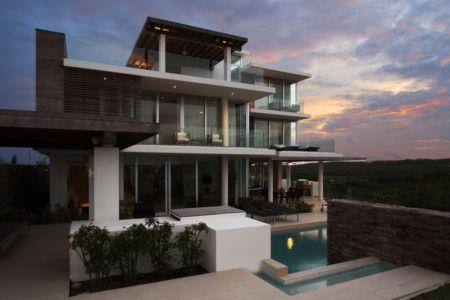 façade terrasse - Ani Villas par Lee H. Skolnick Architecture - Anguilla
