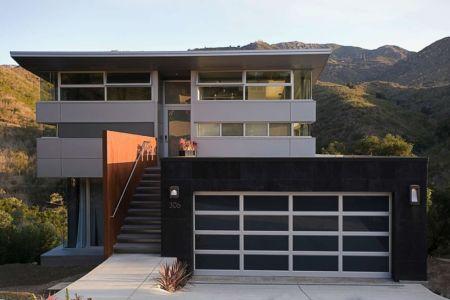 façade terrasse - Anthrazit House par Architects Magnus - Santa Barbara, Usa