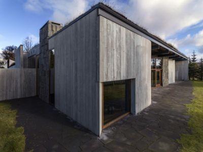 façade terrasse - Bakkaflöt 14 par Studio Granda - Islande