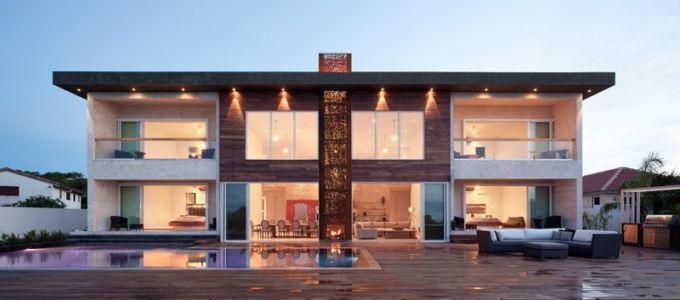 façade terrasse - Bella Vita Villa par Prototype Design Lab -  îles Turques et Caïques