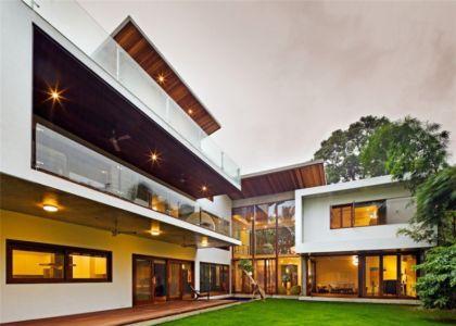façade terrasse - Bhuwalka House par Khosla Associates - Bangalore, Inde