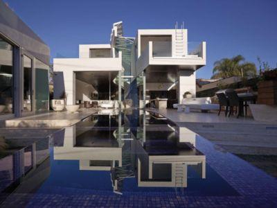 façade terrasse - Birch Residence par Griffin Enright Architects - Los Angeles, Usa