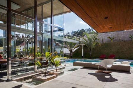 façade terrasse - Botucatu-House par FGMF Arquitetos - Botucatu, Brésil