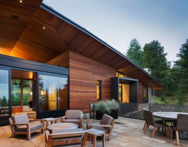 façade terrasse - Butte Residence par Carney Logan Burke Architects - Jackson, Usa