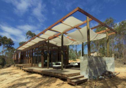 façade terrasse - Casa Tunquén par CO2 Arquitectos - Vaparaiso, Chili