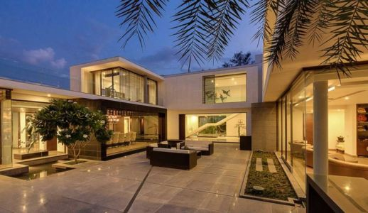façade terrasse - Center Court Villa par DADA Partners - New Delhi, Inde