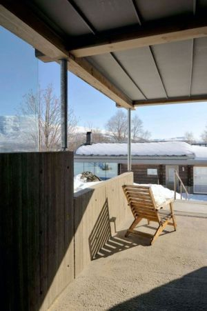 façade terrasse - Cozy-Wooden-Cottage par JVA - Oppdal, Norvège