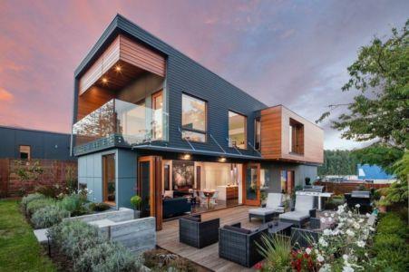 façade terrasse - Double High House par Checkwitch Poiron Architects - Nanaimo, Canada - Concept Photography