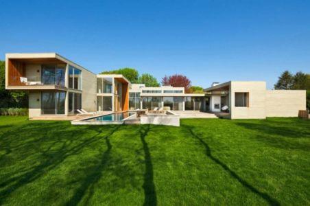 façade terrasse - Fieldview house par Blaze Makoid Architecture - East Hampton, Usa