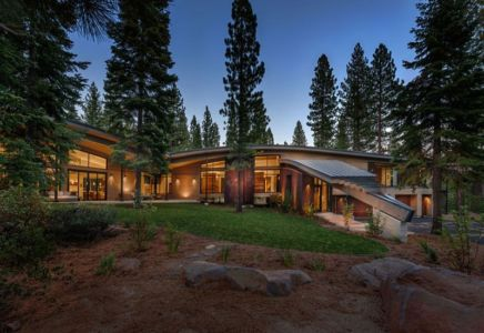 façade terrasse - Flight House in Martis Camp par Sage Architecture - Truckee, Usa