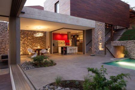 façade terrasse - Garden-House par Cincopatasalgato - El Salvador