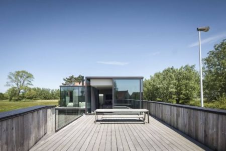 façade terrasse - Graafjansdijk-House par Govaert & Vanhoutte Architects - Belgique