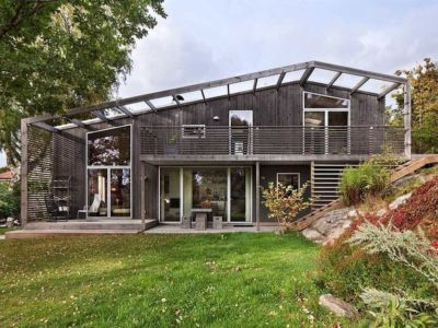 façade terrasse - Green Bean House par Arctic Studio - Onsala, Suède