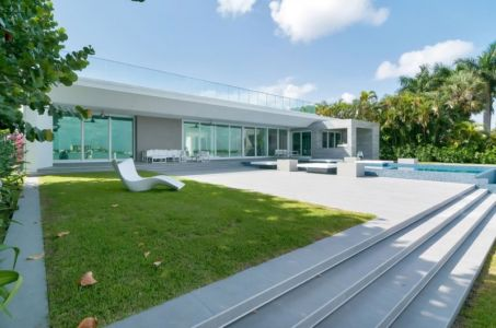 façade terrasse - Gross-Flasz Residence par One d+b Miami - Harbor Island, Usa