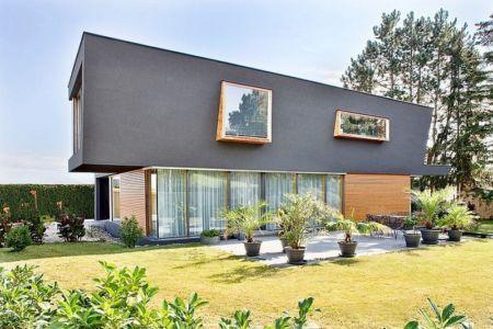 façade terrasse - House W par Studio Prototype - Duiven, Pays-Bas