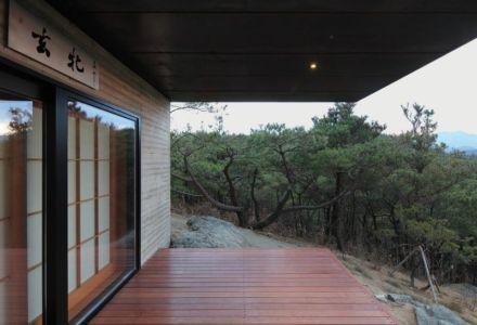 façade terrasse - Hyunam-house par IROJE Architects & Planners - Gunwi-gun, Corée du Sud