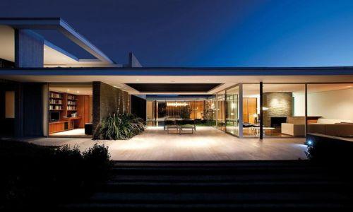 façade terrasse - Kübler House par 57STUDIO - Stgo, Chili