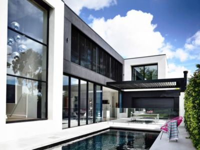 façade terrasse - Kew House par Amber Hope Design - Melbourne, Australie