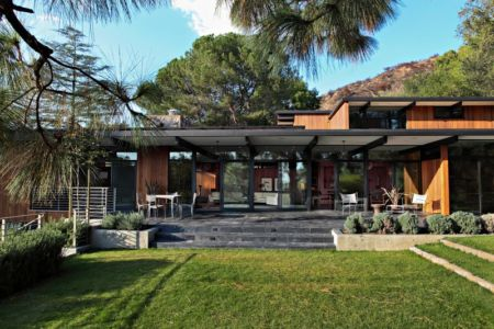 façade terrasse - La Cañada Residence par Jamie Bush & Co. - Sierra Madre, Usa