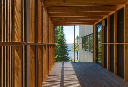 façade terrasse - Lake-House par David Salmela -  Wisconsin, USA