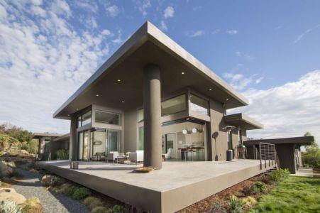 façade terrasse - Las Canoas par Thompson Naylor Architects - Santa Barbara, CA, Usa
