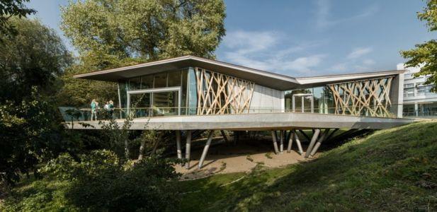 façade terrasse - Maggie's Oxford par Wilkinson Eyre Architects - Oxford, Royaume-Uni