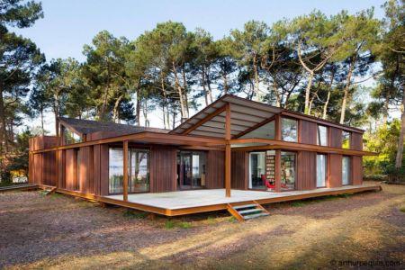 façade terrasse - Maison Alios par Guillaume Cosculluela - Pays Basque, France