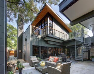 façade terrasse - Midvale Courtyard House par Bruns Architecture - Madison, Usa