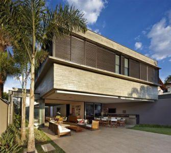 façade terrasse - Modern Residence par Anastasia Architects- Belo Horizonte, Brésil -Photo Jomar Bragança