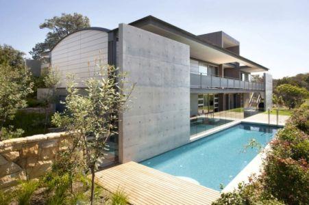 façade terrasse - Mosman house par Popov Bass Architects - Sydney,Australie - photo Kraig Carlstrom