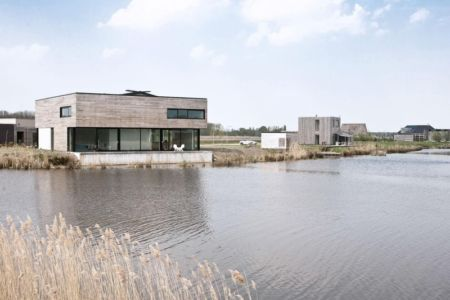 façade terrasse - Private Villa par Engel Architecten - Blauwestad, Pays-Bas