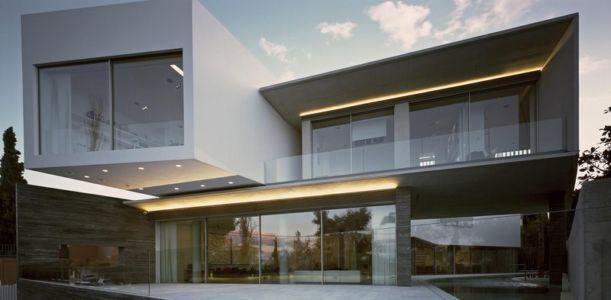 façade terrasse - Psychiko House par Divercity Architects - Athènes, Grèce