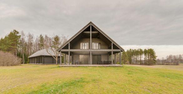 façade terrasse - Ranch par Aketuri Architekai - Lituanie