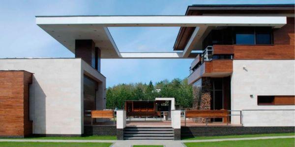 façade terrasse - S-House par Fourth Dimension - Moscou, Russie