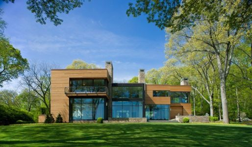 façade terrasse - Secluded contemporary home par Point One Architects - Essex, Usa