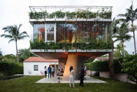 façade terrasse - Sun Path House par Studio Christian Wassmann - Miami, USA