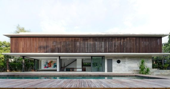 façade terrasse - Swiss family house par Architectkidd - Bang Saray, Thaïlande