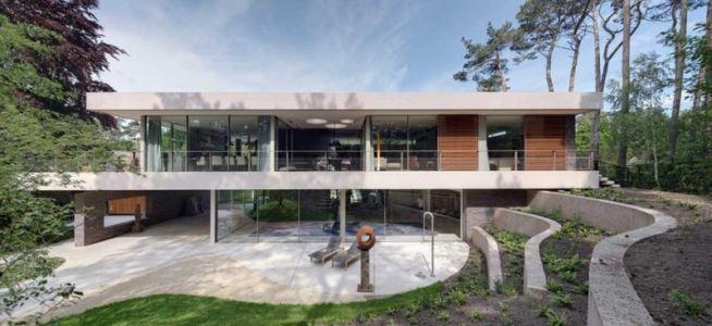 façade terrasse - The Dune Villa par HILBERINKBOSCH Architects - Utrecht, Pays-Bas