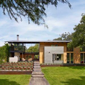façade terrasse - The Hog Pen Creek Residence par LakeFlato - Austin, Usa