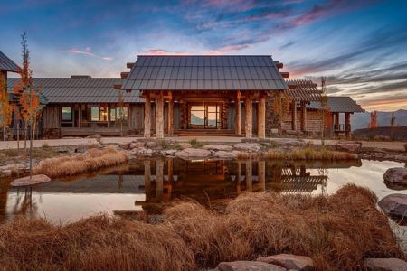 façade terrasse - Wolf Creek Ranch par S+D Architects - Utah, Usa