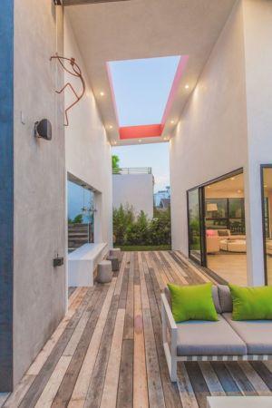 façade terrasse bois - Angular-Lines par Amit Apel - Los Angeles, USA
