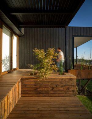 façade terrasse bois - GB-House par EMA Arquitectos - Concón, Chili