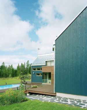 façade terrasse bois - House Ulve par Oopera - Seinäjoki, Finlande