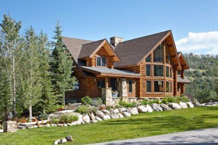 façade terrasse - chalet contemporain Thunderhead, Colorado, Usa