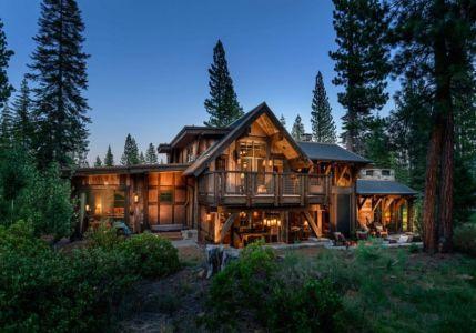 façade terrasse - chalet de luxe par Walton Architecture - Martis Camp, Usa